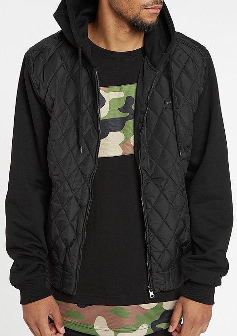 Urban Classics Hooded Diamond Quilt Nylon black/black