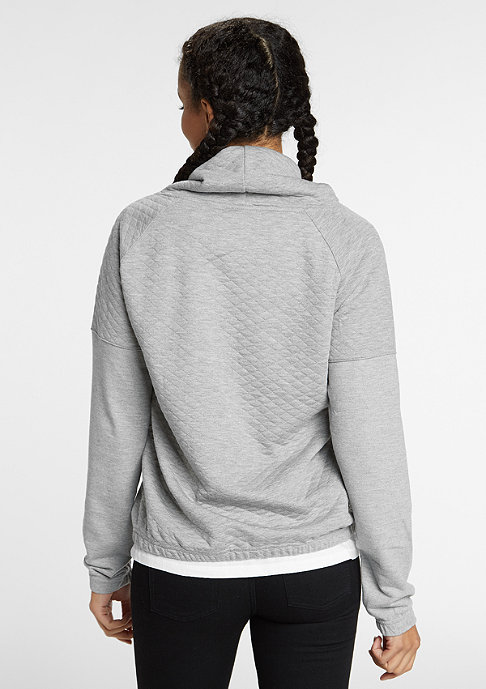 Urban Classics Sweatshirt Quilt High Neck grey