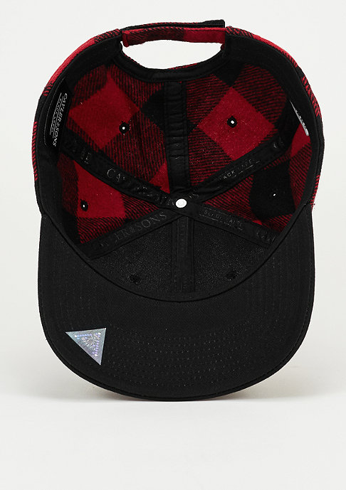 Cayler & Sons Snapback-Cap BL Curved Cap Legend red checked/black/off-white