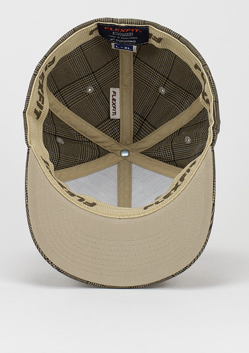 Flexfit Baseball-Cap Glen Check brown/khaki