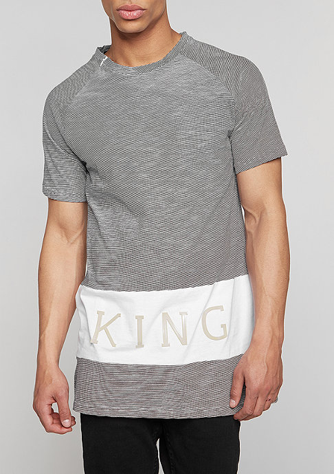 King Apparel T-Shirt Panel Up Longline navy heather