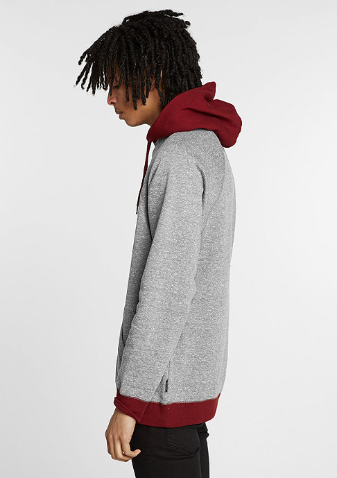 Brixton Hoodie Barstow heather grey/burgundy