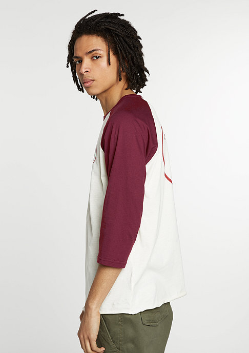 Brixton T-Shirt Wheeler 3/4 cream/burgundy