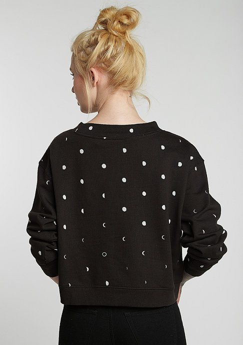Cheap Monday Sweatshirt Expand Moon Dot moon black