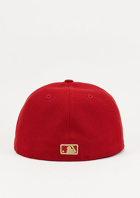 New Era Fitted-Cap Team Weld MLB Los Angeles Dodgers scarlet/gold