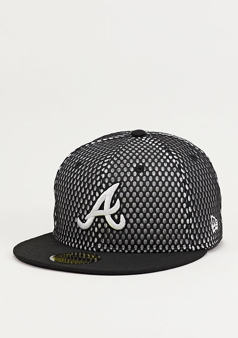 New Era Base Mesh MLB Atlanta Braves black/optic white