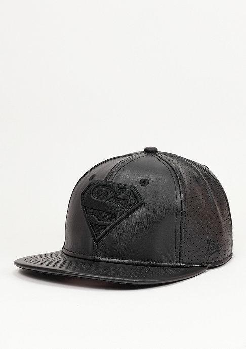 New Era Leather Perf Superman black/black