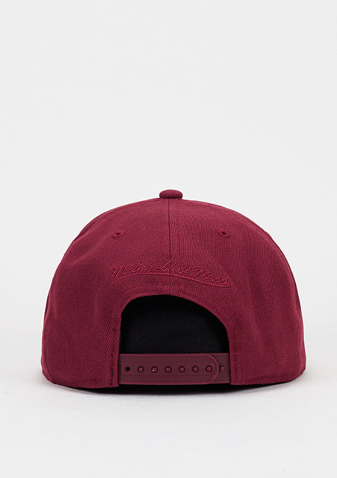 Mitchell & Ness Snapback-Cap Box Logo beet red