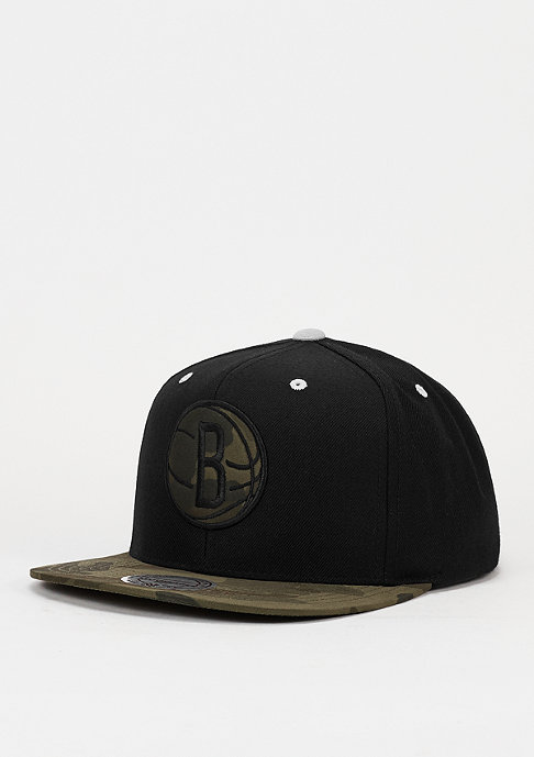 Mitchell & Ness Snapback-Cap Camo Fill NBA Brooklyn Nets black