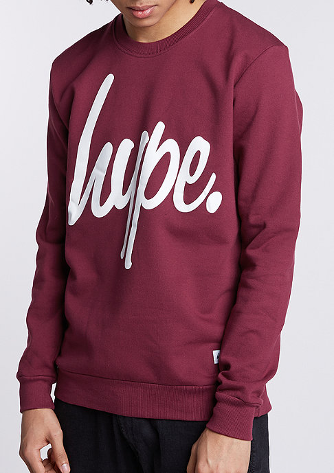 Hype Sweatshirt Hype Script burgundy/white