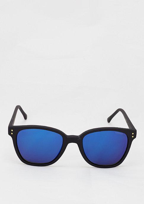Komono Sonnenbrille Renee black rubber/blue mirror