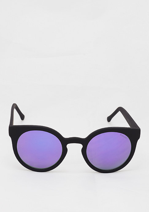 Komono Sonnenbrille Lulu black rubber/purple mirror