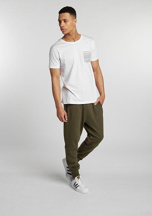 Urban Classics T-Shirt Contrast Pocket white/aztec