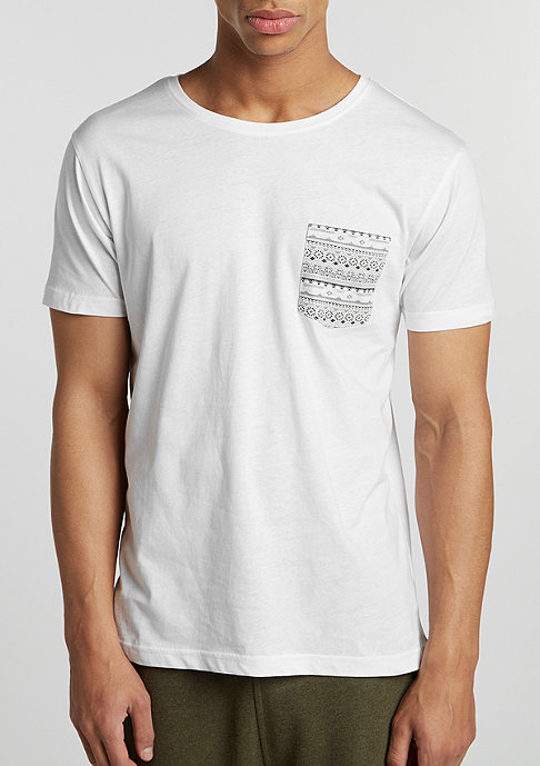 Urban Classics T-Shirt Contrast Pocket white/aztec
