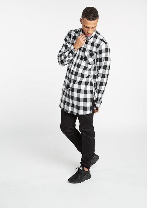 Urban Classics Hemd Side-Zip Checked Flanell black/white