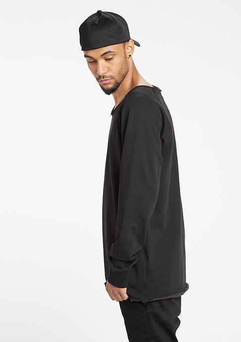 Urban Classics Sweatshirt Long Open Edge Terry black