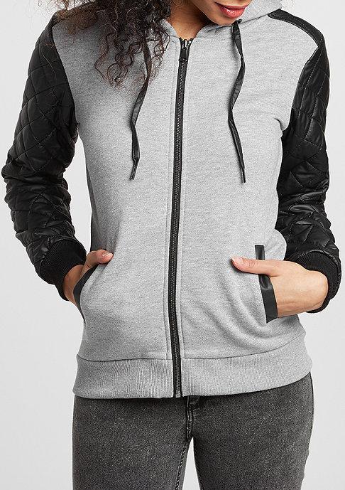 Urban Classics Hooded-Zipper Diamond Leather Imitation Sleeve b