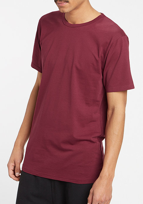 Urban Classics T-Shirt Fitted Stretch burgundy