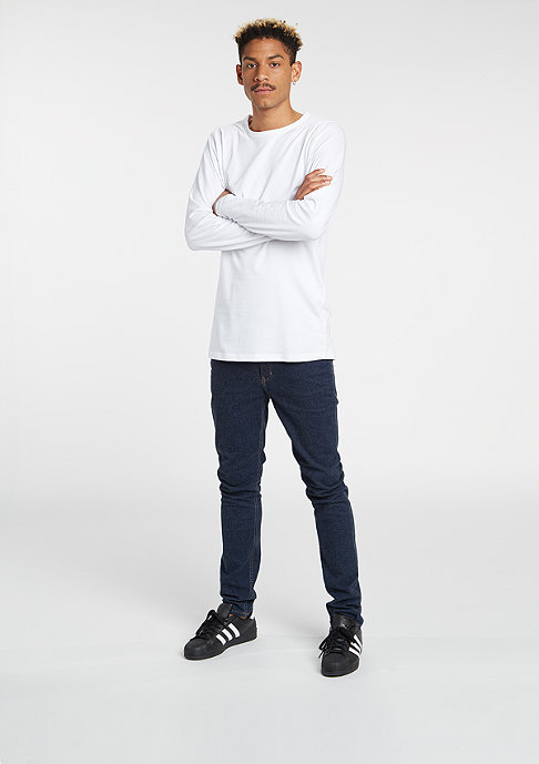 Urban Classics Longsleeve Fitted Stretch white