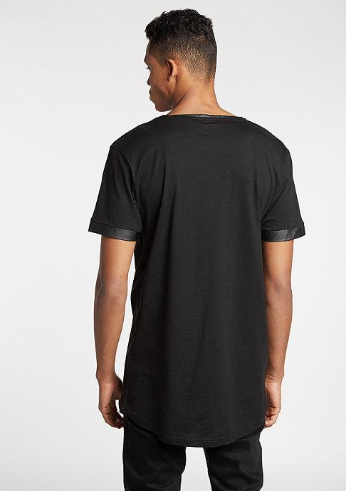 Urban Classics T-Shirt Long Shaped Leather Imitation black/black