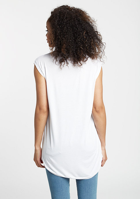 Urban Classics T-Shirt Wide Viscon Sleeveless white