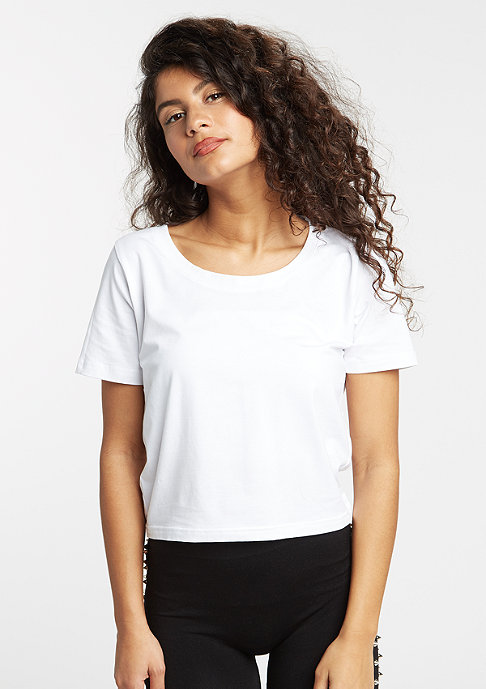 Urban Classics T-Shirt Cropped white