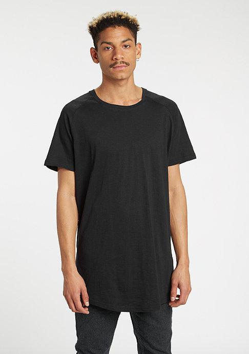 Urban Classics T-Shirt Long Shaped Slub Raglan black