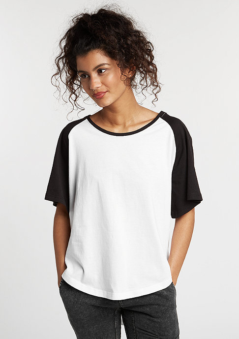 Urban Classics Raglan HiLo white/black