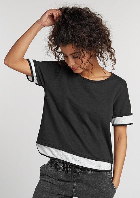 Urban Classics T-Shirt Terry Mesh black/white