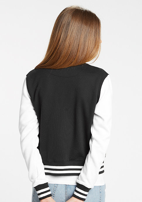Urban Classics Jacke 2-Tone College Sweatjacket black/white