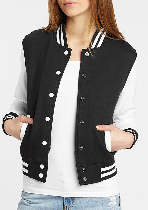 Urban Classics 2-Tone College Sweatjacket black/white
