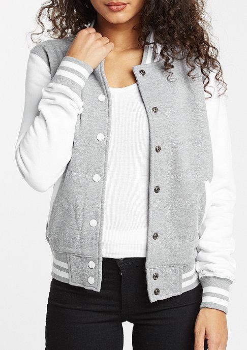 Urban Classics Jacke 2-Tone College Sweatjacket grey/white