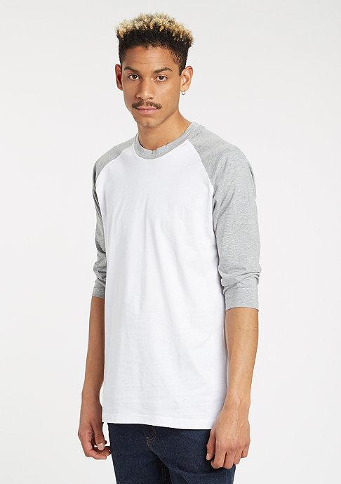 Urban Classics Contrast 3/4 Sleeve Raglan white/grey