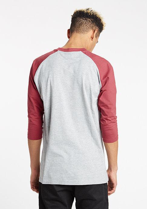 Urban Classics Contrast 3/4 Sleeve Raglan grey/ruby