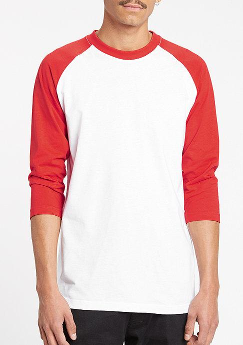 Urban Classics Contrast 3/4 Sleeve Raglan white/red
