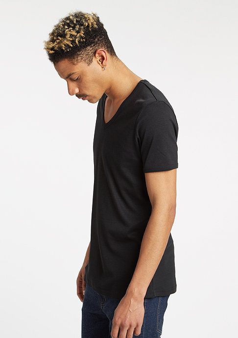 Urban Classics T-Shirt Slim 1by1 V-Neck black