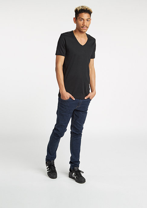 Urban Classics Slim 1by1 V-Neck black