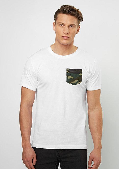 Urban Classics T-Shirt Camo Pocket white