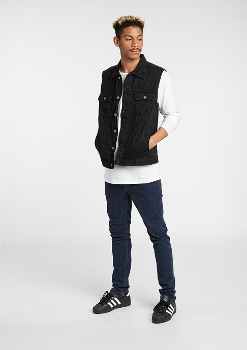 Urban Classics Weste Denim blackraw