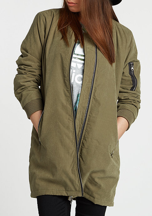 Urban Classics Jas Peached Long Bomber olive