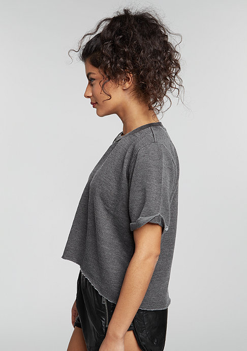Urban Classics T-Shirt Cropped Burnout dark grey