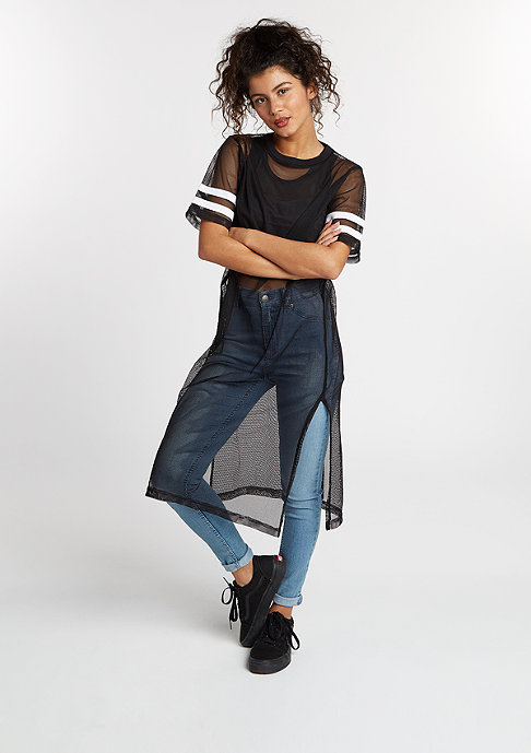Urban Classics Kleid Mesh Long black/white