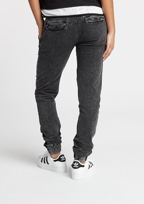 Urban Classics Acid Wash Jogging Pants dark grey