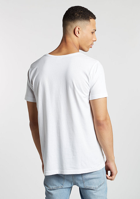 Urban Classics T-Shirt Contrast Pocket white/dark marble