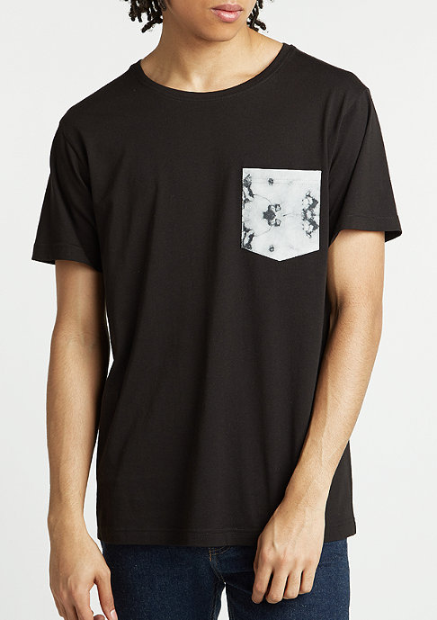 Urban Classics T-Shirt Contrast Pocket black/dark marble