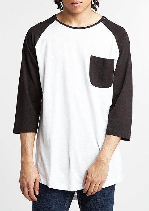 Urban Classics Longsleeve Long Raglan 3/4 Sleeve Pocket white/black