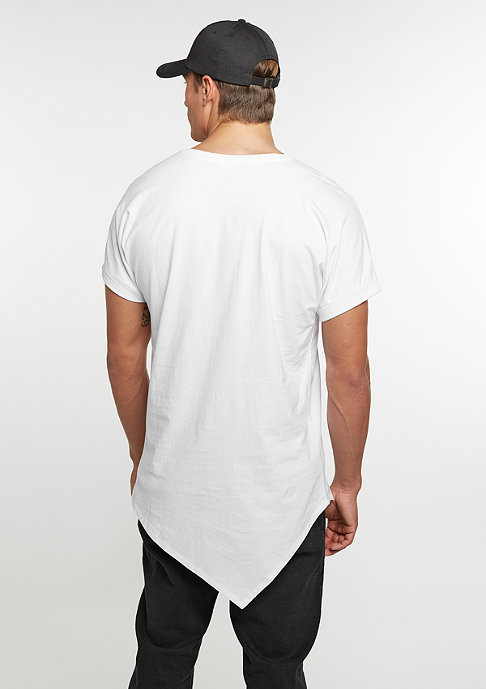 Urban Classics T-Shirt Asymetric Long white
