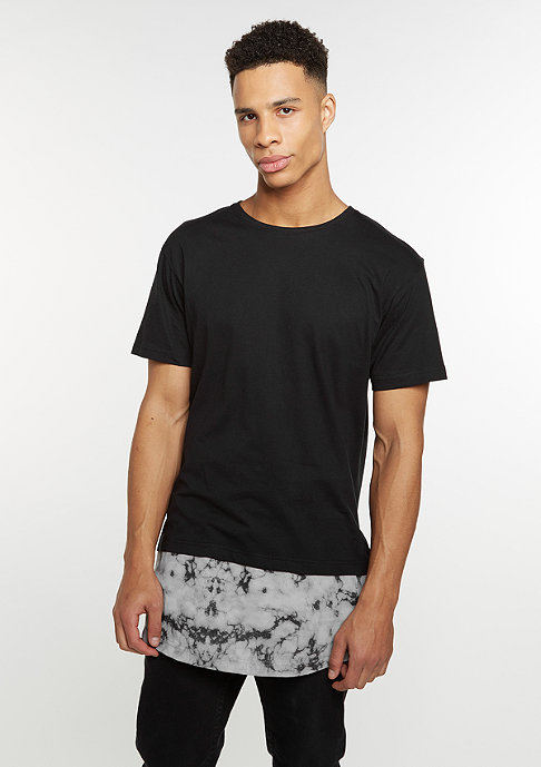 Urban Classics T-Shirt Long Shaped Marble black