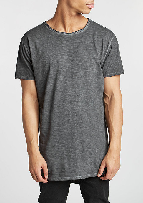 Urban Classics T-Shirt Long Back Shaped Spray Dye dark grey