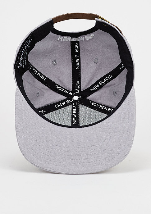 New Black Strapback-Cap N Patch grey